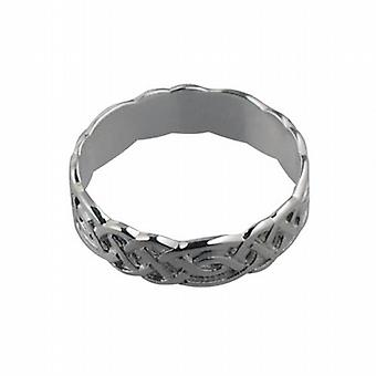 Silver 6mm Celtic Wedding Ring Size R
