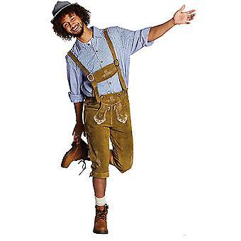 Calças de couro Baviera YODEL Oktoberfest bávara traje para homens