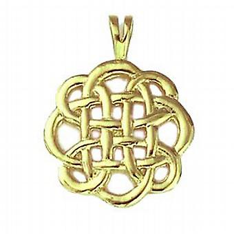 9ct Gold 20mm round Celtic Pendant
