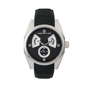 Morphic M34 Series Men's Watch w/ Day/Date - Silver/Black