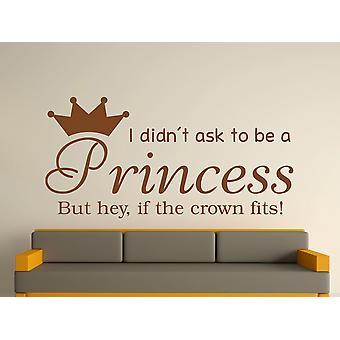 Wird A Princess v2 Wall Art Sticker - Brown