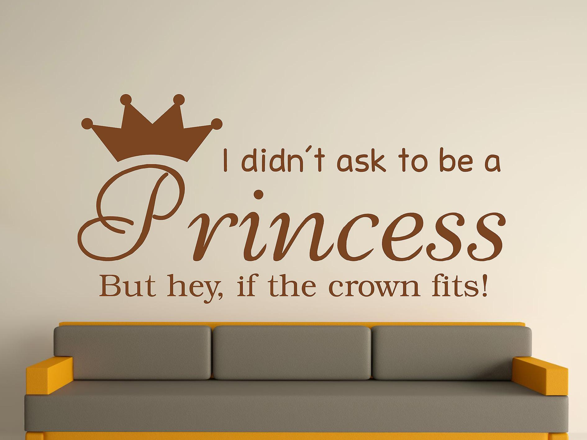 Being A Princess v2 Wall Art Sticker - Brown