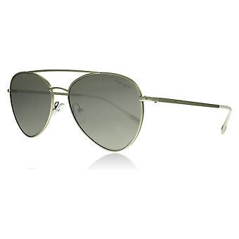 Prada Sport PS50SS 1AP2B0 Matte Silver PS50SS Pilot Sunglasses Lens Category 3 Lens Mirrored Size 57mm