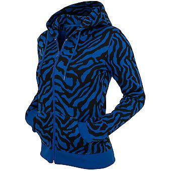 Urban Classics Damen Zip Hoodie Zebra Ladies