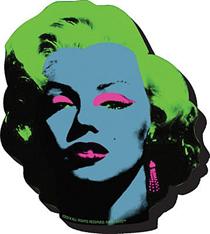 Marilyn Monroe Pop Art chunky thick fridge magnet    (nm)