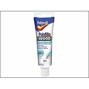 Polycell Polyfilla For Wood General Repairs Tube White 75g