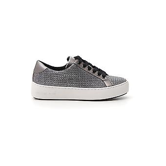 Michael Kors Silver Leather Sneakers