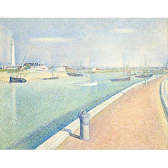 Inntrykk figur, Georges Seurat, 50x40cm