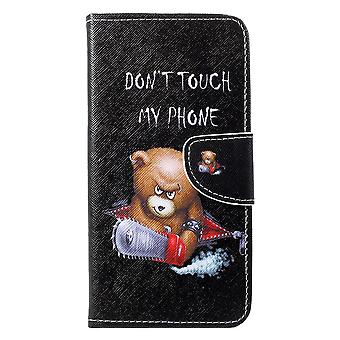 Huawei P30 Little Wallet Pouch-Angry Bear