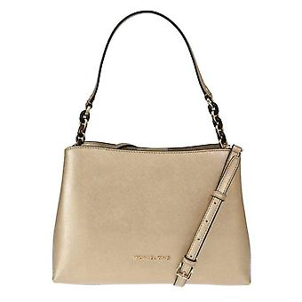 Gold SOFIA Leather Satchel Bag -- MK50772784