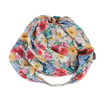 Eternal Collection Spring Bouquet Liberty Print Pure Satin Silk Infinity Scarf