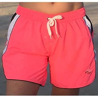 Aqua Perla - Womens -surf -pink- Swim Short With Side Zip Pockets
