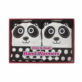 Fare clic su & maglia copertura Gel scaldamani di calore: Panda (coppia)