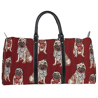 Pug big travel holdall by signare tapestry / bhold-pug