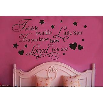 Väggdekor - Twinkle, Twinkle Little Star 72 x 40 cm