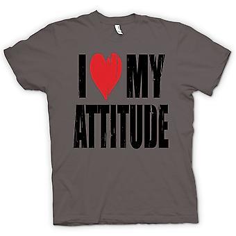 Dame T-shirt - jeg elsker min holdning - sjovt
