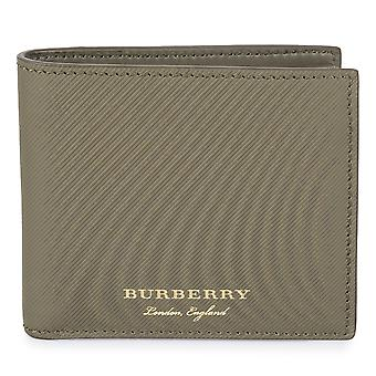 Burberry Trench Green Ribbed Leather Hipfold Wallet
