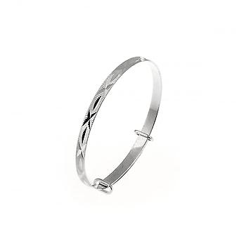 Eternity Sterling Silver Expanding Baby Bangle