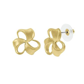 Eternal Collection Bows Classic Gold Tone Stud Pierced Earrings