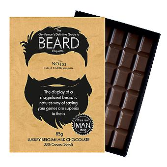 Funny Gifts For Bearded Men Beard Lover Present Chocolate Greeting Card Oncocoa BTQ102