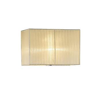 Diyas Florence Rectangle Organza Shade, 400x210x260mm Cream, For Floor Lamp