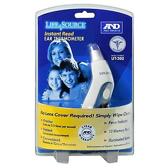 Lifesource instant read ear thermometer, 1 ea