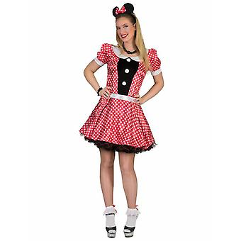 Costume Mouse Comic Ladies Mouse Red White Dotted Dress Mouse Costume Carnival Carnaval Costumes femmes