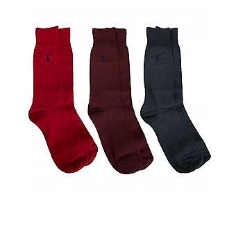 Polo Ralph Lauren Boxed 3 Pack Plain Socks