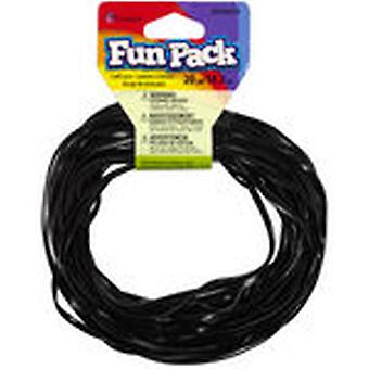 Fun Pack Plastic Craft Lace Black Ccpcl 34215