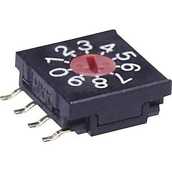 Rotary switch 5 Vdc 0.1 A Switch postions 16 NKK Switches FR02FR16P-S 1 pc(s)