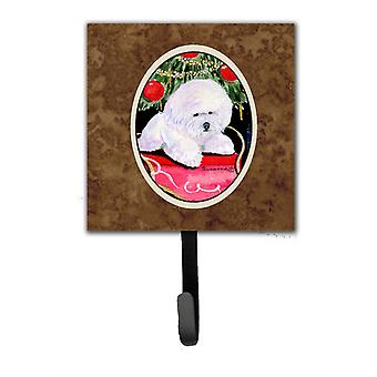 Christmas Tree with  Bichon Frise Leash Holder or Key Hook