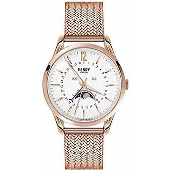 Henry London Herre Moonphase Rose Gold PVD belagt HL39-LM-0162 Watch