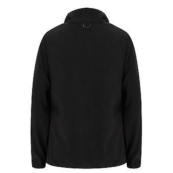 Sort vandtæt 3 i 1 jakke med imiteret pels tippet Trim hætten