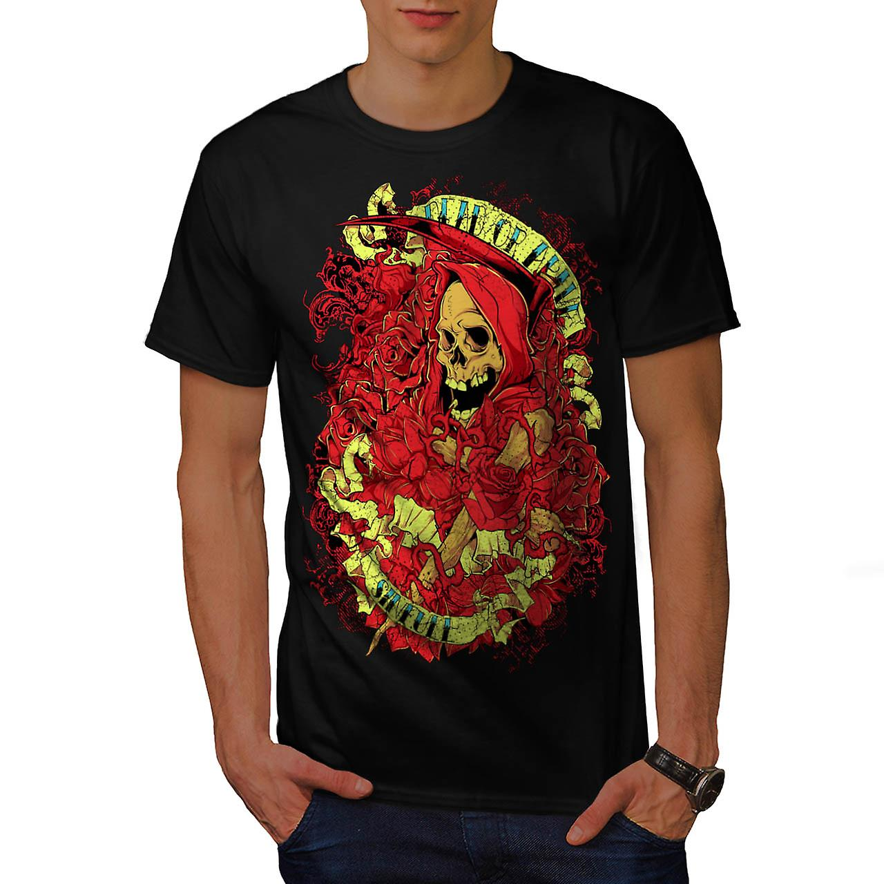 Dead Or Alive Sinfull Death Robe Men Black T-shirt | Wellcoda