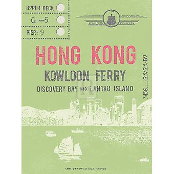 Ticket to Hong Kong Poster Print by The Vintage Collection (12 x 16)