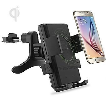 ONX3 (Air Vent Qi Wireless Charger  + Qi Receiver) Lenovo A6000 / A6000 Plus Pack of Universal Fast Charge QI Wireless Car Charger Station Mount Holder for Air Vent and QI Wireless Charger Receiver Module Film