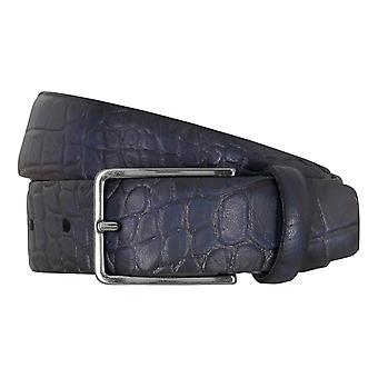 SAKLANI & FRIESE belts men's belts leather belt blue 5111