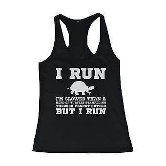 Eu sou mais lento do que uma camisa sem mangas tartaruga engraçada Workout Tank Top Academia