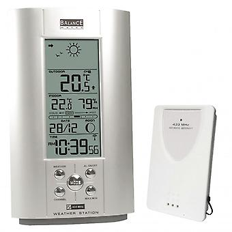 Balance Weather Station Indoor and Outdoor Silver