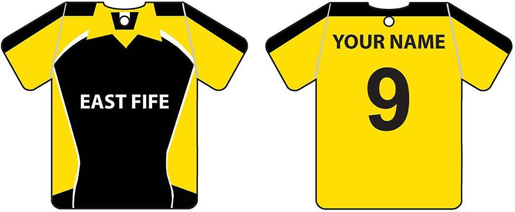 Ambientador de coche personalizado Fife oriental fútbol camisa