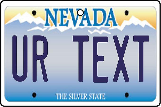Personalised Nevada Numberplate Car Air Freshener