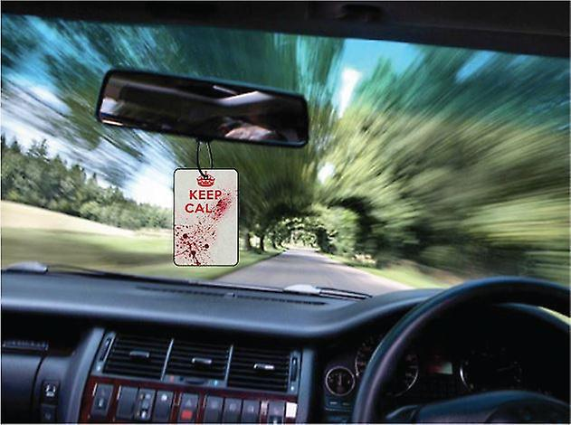 Keep Calm Blood Splatter Car Air Freshener