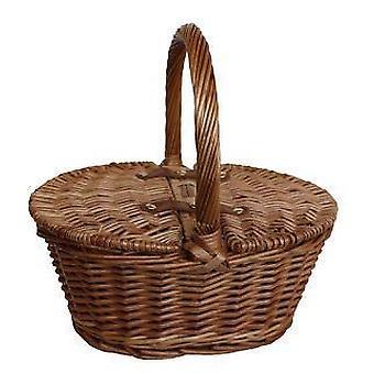 Childs licht gestoomd Finish ovale picknickmand