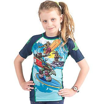 Fusion Fight Gear Kid's TMNT Sewer Surfin' Short Sleeve Rashguard