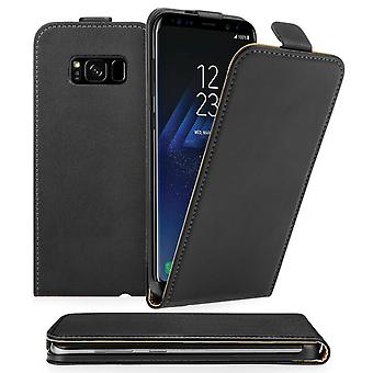 Caseflex Samsung Galaxy S8 Real Leather Flip Case Black