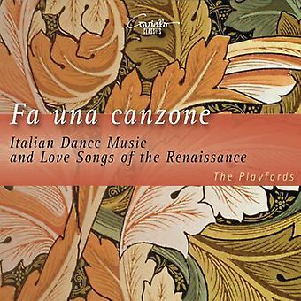 Caccini / Playfords - Fa Una Canzone-Ital. Tanzmusik [CD] USA import