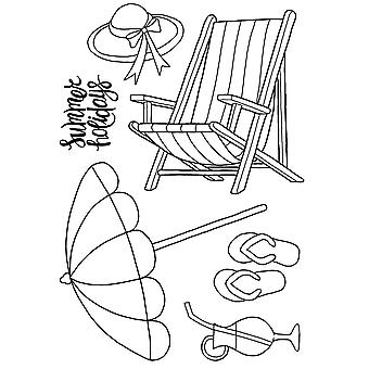 Woodware Clear Singles Acrylic Stamp The Deck Chair 5 Piece