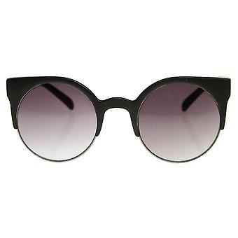 Super Circle Round Half Frame Fashion Sunglasses