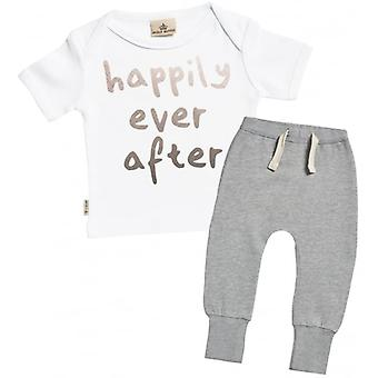 Spoilt Rotten Happily Ever After Baby T-Shirt & Joggers Outfit Set