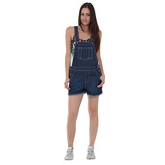 USKEES ANNA Oversized Dungaree Shorts Loose Fit Denim Bib overall Shorts